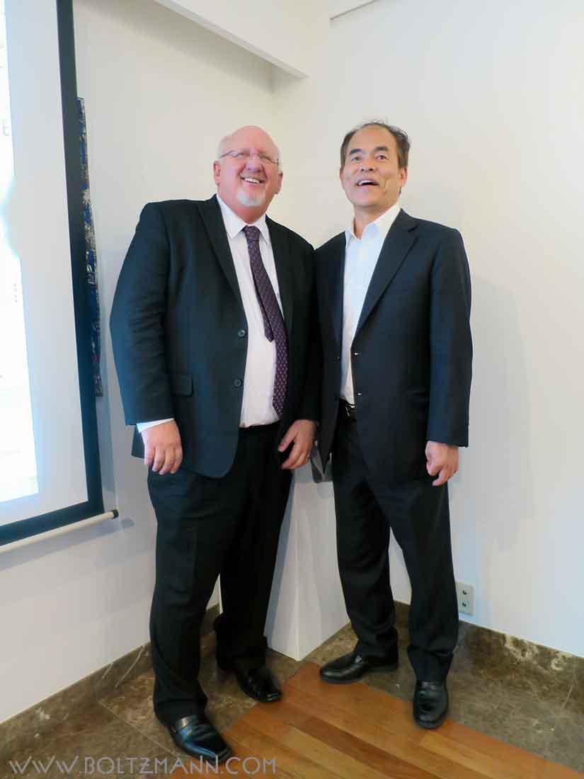 Shuji Nakamura and Chuck Casto